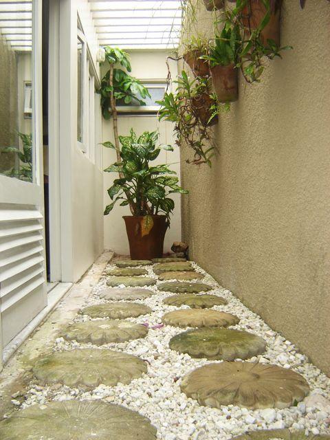 caminhos jardim pedra decorativa