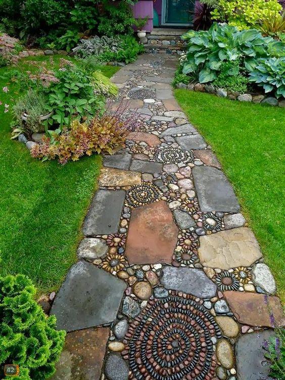 caminhos jardim pedra