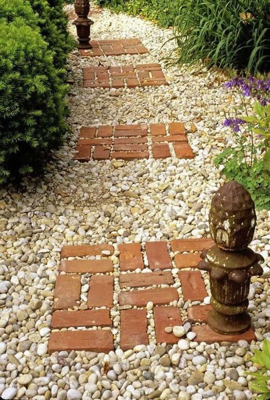 caminhos jardim tijolo