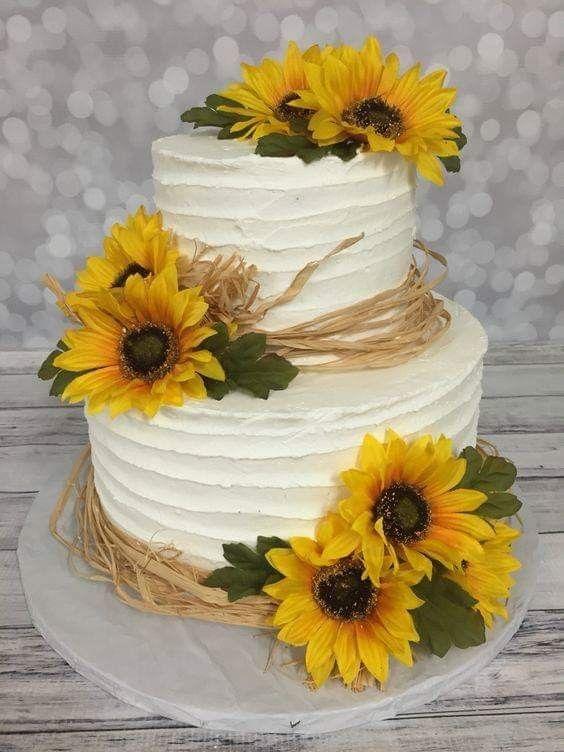 decoracao girassol bolo aniversario