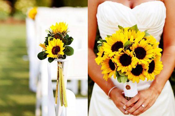 decoracao girassol casamento