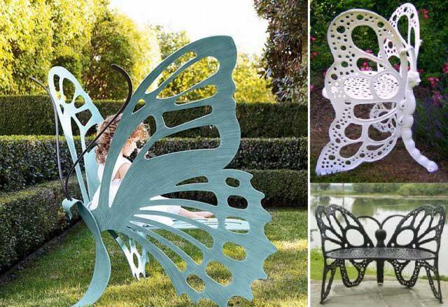 decoracao jardim borboleta mobiliario