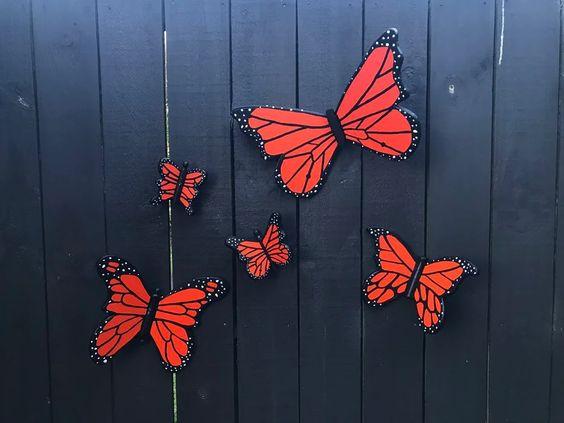 decoracao jardim borboleta painel