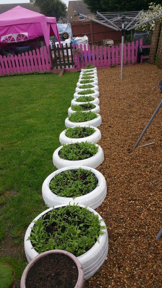 decoracao jardim pneus separador