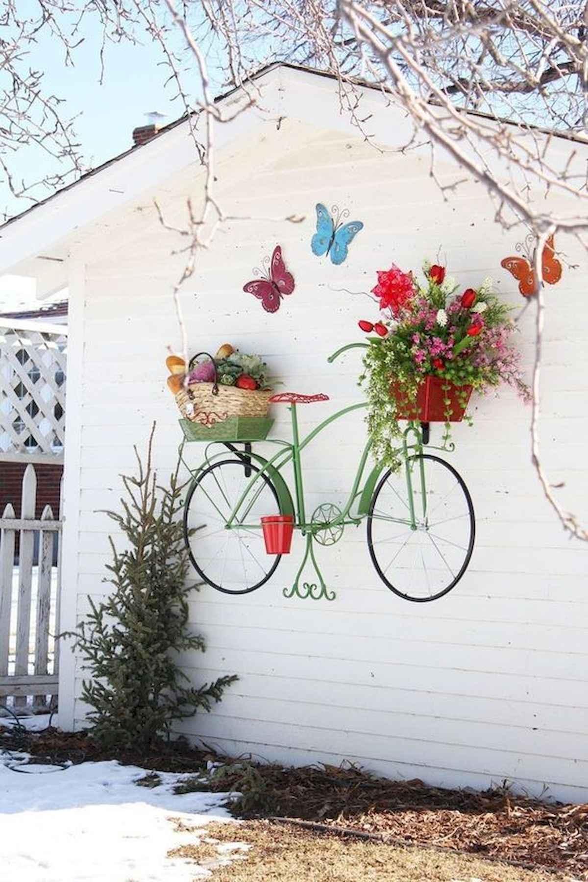 ideias criativas plantar bicicleta