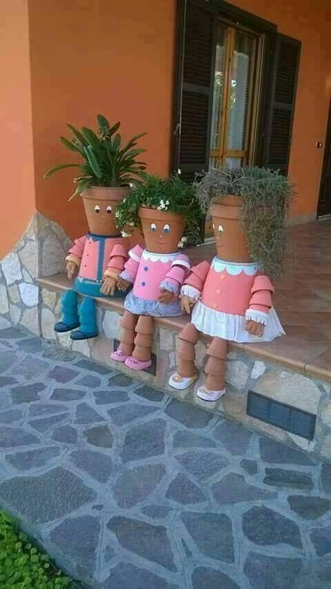 ideias criativas plantar bonecas