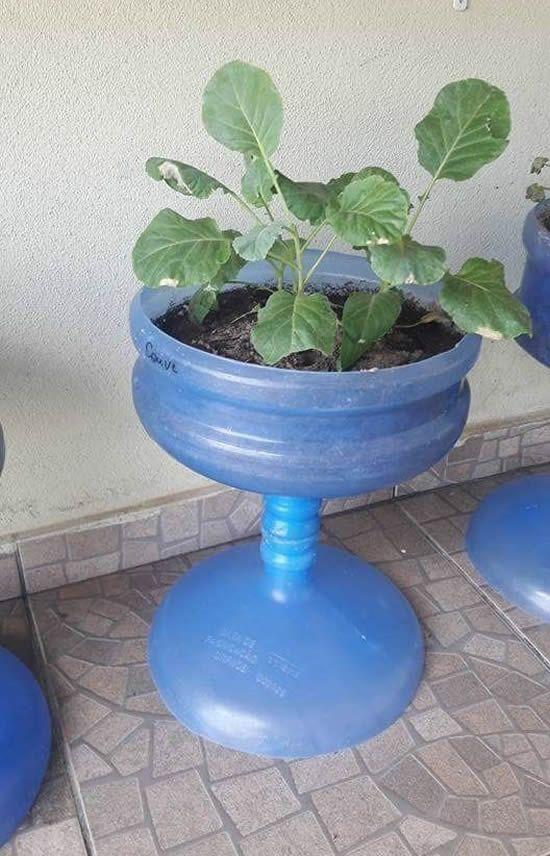 ideias criativas plantar garrafao