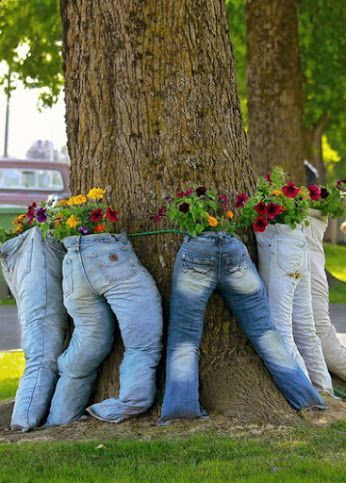 ideias criativas plantar jeans