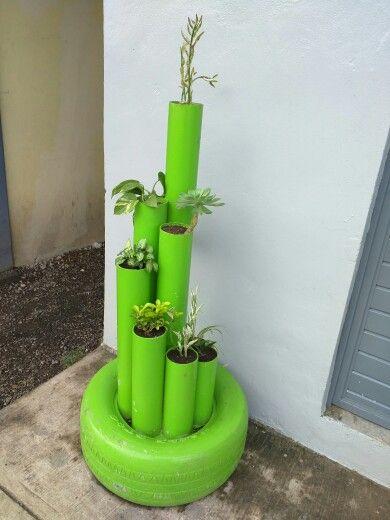 ideias criativas plantar tubos pvc floreira