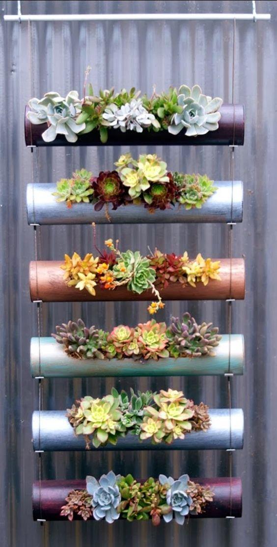 ideias criativas plantar tubos pvc