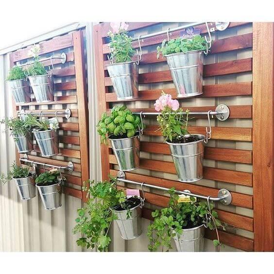 jardim suspenso estrutura metal