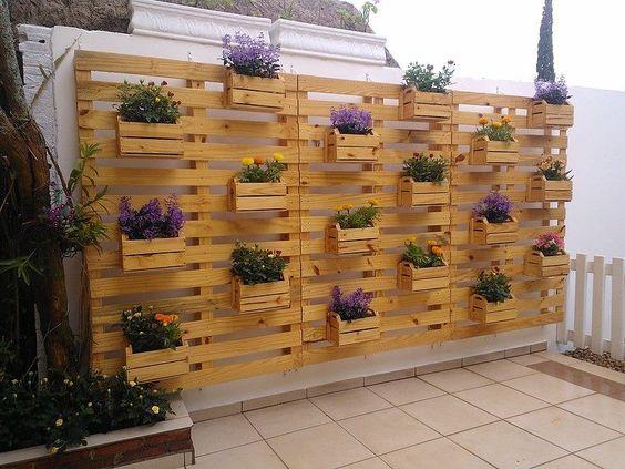jardim suspenso paletes madeira