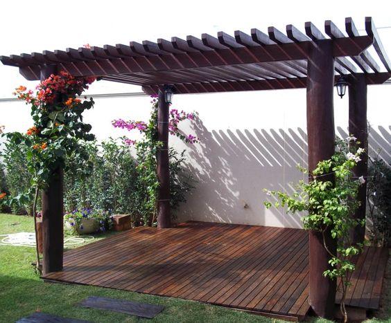 jardins planejados pergolado