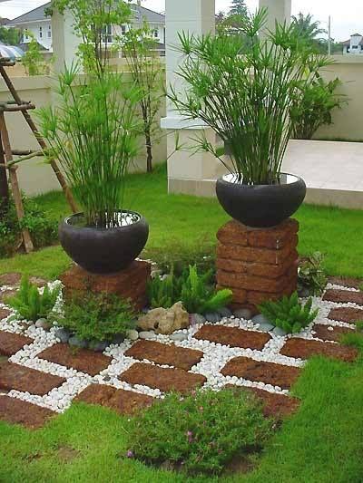 jardins planejados vasos