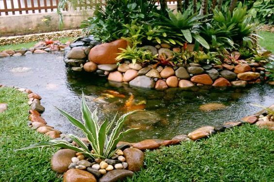 lago jardim pedras