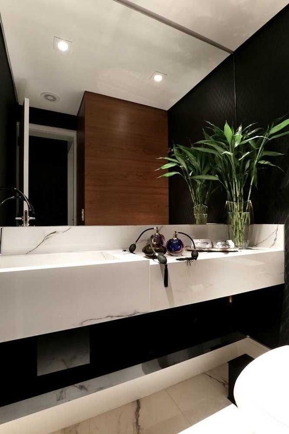 plantas banheiro bambu