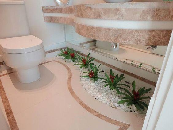 plantas banheiro bromelia