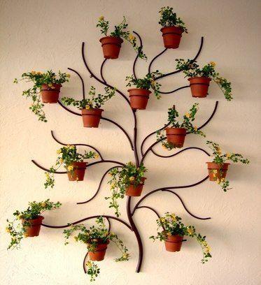 suporte plantas ferro