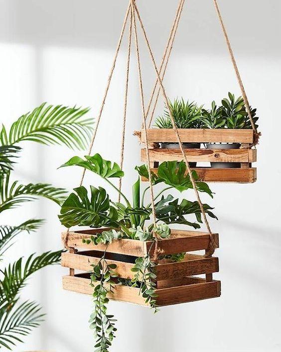 suporte plantas madeira suspenso 2