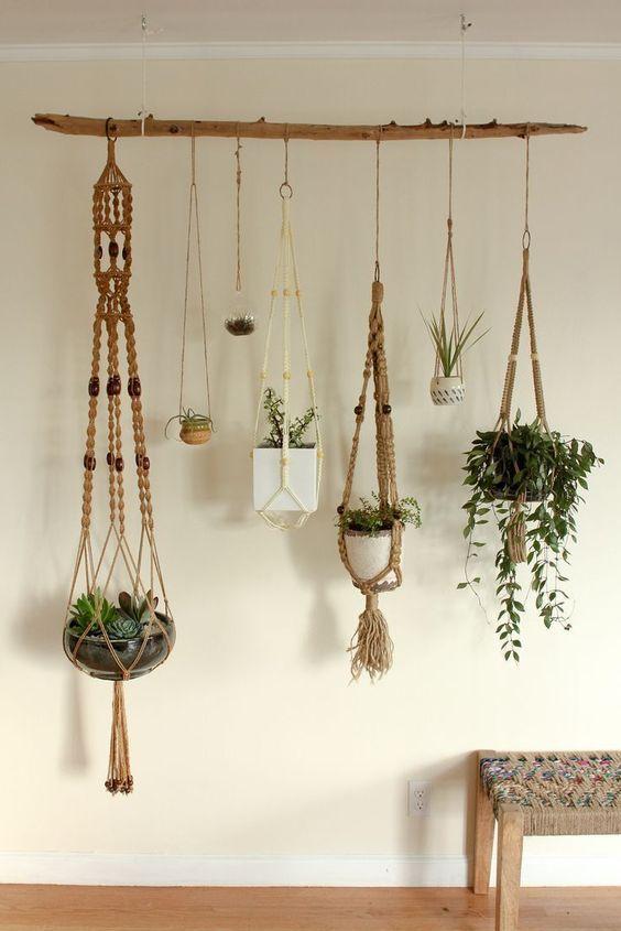 suporte plantas madeira suspenso 3
